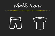 Sport clothes sale. 4 icons. Vector
