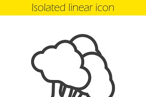 Broccoli linear icon. Vector