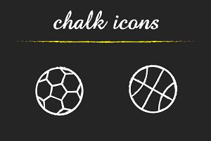 Sport balls. 4 icons set. Vector