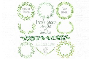 Fresh green branches & wreaths