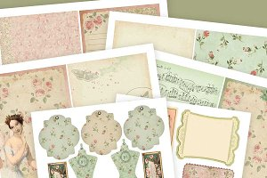 Cottage Rose Journal Kit - PDFs
