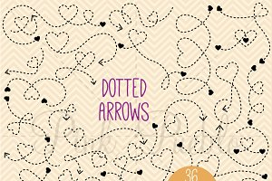 Dotted Arrows Clipart and Vectors