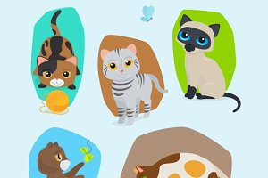 Cute kittens illustration