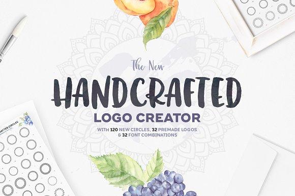 the handcrafted logo creator logo templates creative market