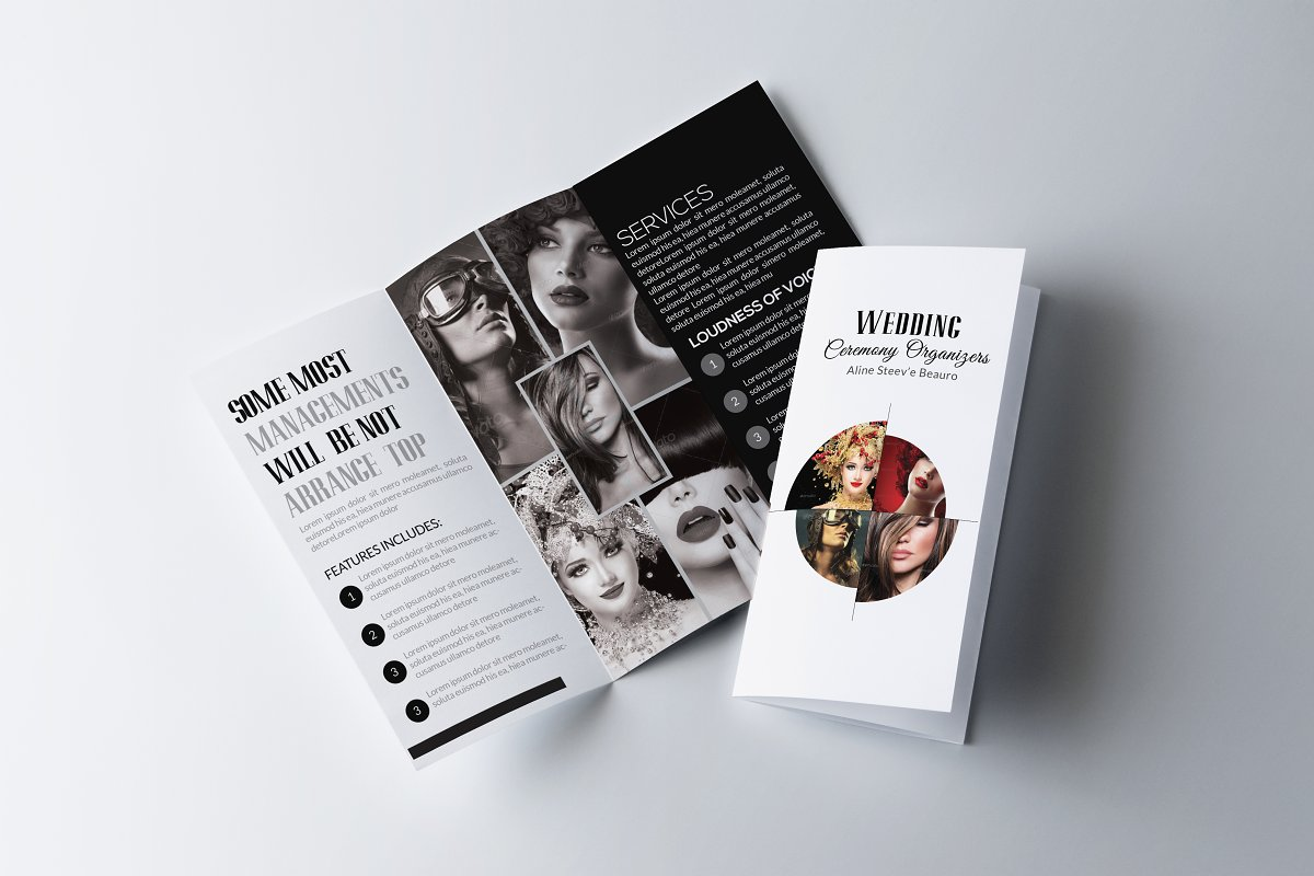 Fashion Trifold Brochure Template in Brochure Templates - product preview 8