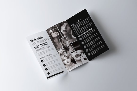 Fashion Trifold Brochure Template in Brochure Templates - product preview 1