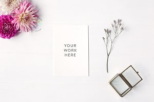 Styled Feminine Card Mockup
