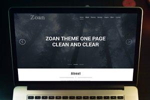 PSD Template - Zoan Theme Onepage
