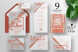 Wedding Invitation Suite - Moderna