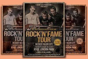 Rock 'N' Fame Flyer Ticket Templates