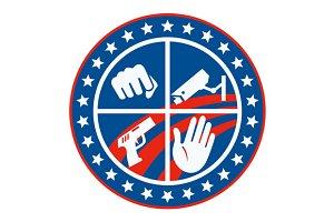Security CCTV Camera Gun Fist Hand