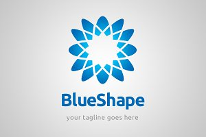 Blue shape logo template
