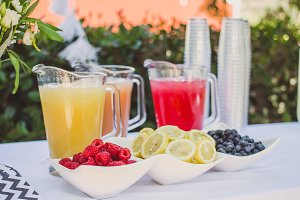 Punch & Fresh Fruit at Outdoor Event