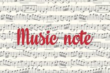 Note. Sheet music. Seamless pattern