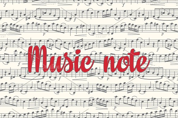Note. Sheet music. Seamless pattern - Patterns