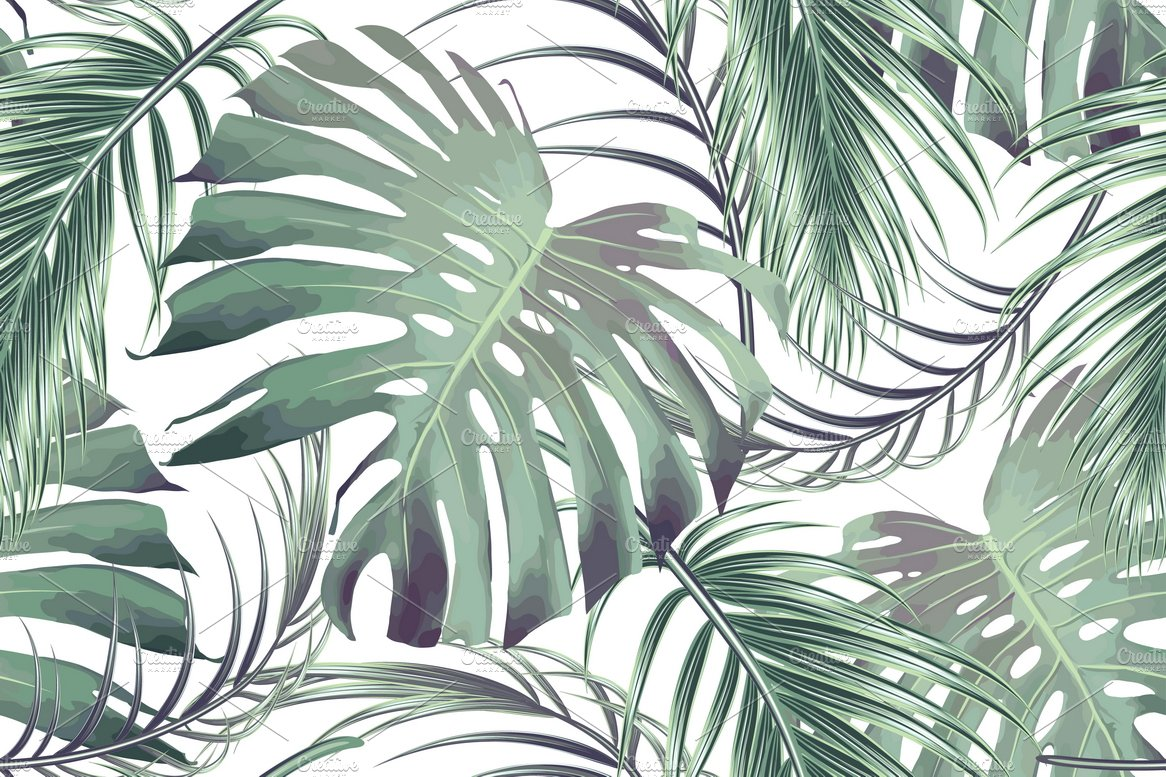 Tropical Jungle Leaves Pattern Graphic Patterns