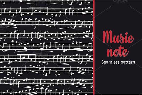 Note. Sheet music. Seamless pattern - Patterns