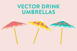 Vector Drink Umbrellas