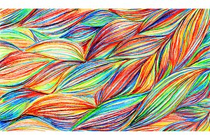 Colorful braids waves pattern vector