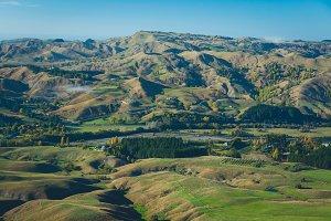Farmland and sky in Hawke's Bay, NZ