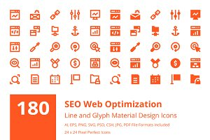 Seo Web Optimization Material Icons