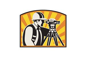Surveyor Engineer Theodolite Tot