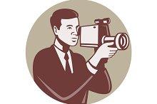Photographer Shooting Video Camera