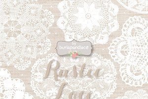 Linen/Wood lace clipart