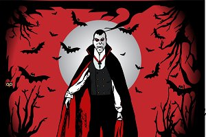 Happy Halloween with Dracula