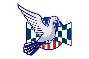 Racing Pigeon Race Flag American