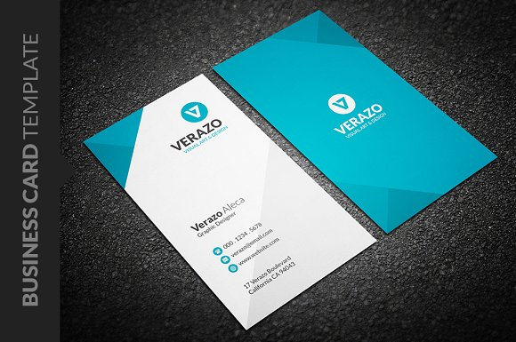 Clean vertical business card business card templates creative clean vertical business card business cards reheart