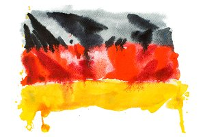 Flag of Germany. Watercolour
