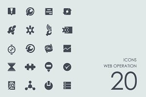 Web operation icons