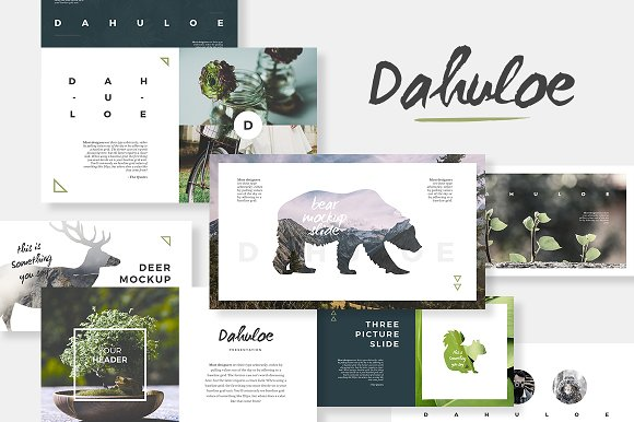 dahuloe powerpoint template presentation templates creative market