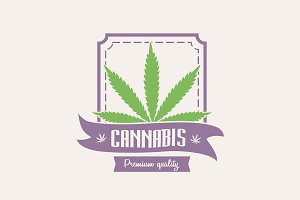 Medical marijuana. Cannabis logo