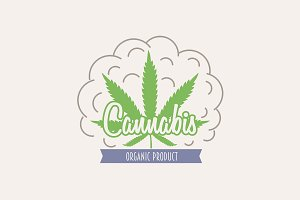 Medical cannabis marijuana logo