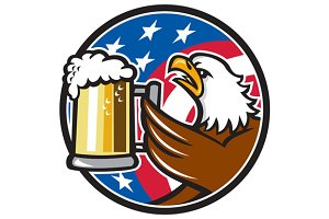 Bald Eagle Hoisting Beer Stein