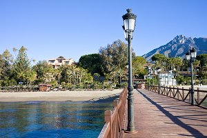 Beach and Pier in Marbella