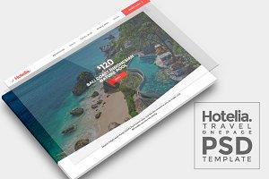 Hotelia Travel Onepage PSD