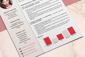 Feminine Resume / CV Template