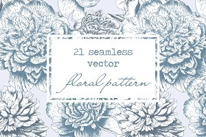 Hand Drawn Floral Vector Patterns