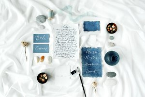 Wedding decor with calligraphy