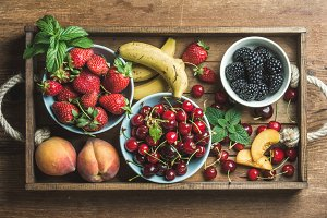 Summer fresh fruit and berry