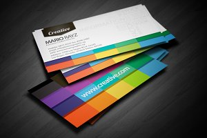 Creative White business card design