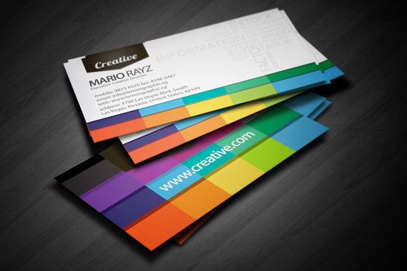 Creative White Business Card Design Templates Market