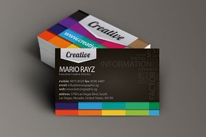 Creative Black business card design
