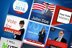 USA Election Social Media Banners