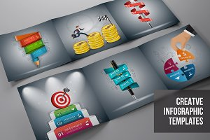 Business infographic templates v5