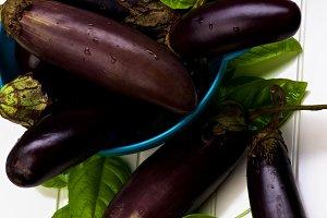 Raw Small Eggplants