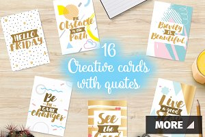 Creative cards with quotes